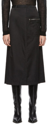 Our Legacy Black Apron Skirt