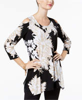 JM Collection Embellished Handkerchief-Hem Top, Created for Macy's