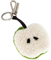 Fendi Shearling and Ponyhair Apple Bag Charm w/ Tags