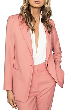 Reiss Phoenix Textured Single-Breasted Blazer