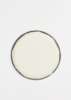 Kati Von Lehman white and graphite porcelain platter