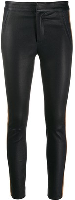Drome contrast band skinny leather trousers