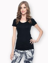 Splendid 1x1 Jersey Scoop Neck Tee