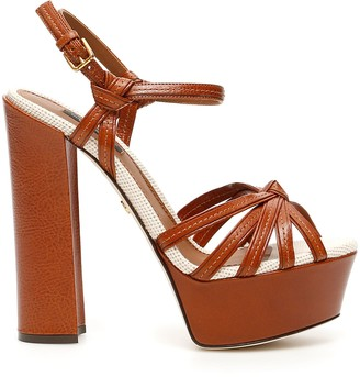 Dolce & Gabbana Bi-coloured Keira Sandals