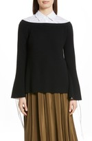 Robert Rodriguez Women's Off The Shoulder Wool & Cashmere Sweater