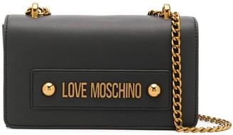 Love Moschino Logo Plaque Chain Strap Shoulder Bag