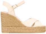 Castaner wedged sandals - women - Cotton/Jute/Leather/rubber - 35