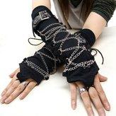 Hippies Women's Punk Vkei Arm warmmer Mittens, 558532