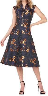 Kay Unger Ramona Floral Sleeveless Fit & Flare Dress