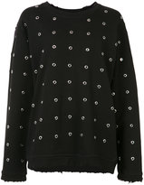 RtA cut-out embellished sweater - women - Cotton - S