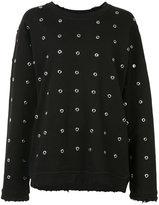 RtA cut-out embellished sweater - women - Cotton - XS