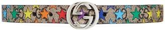 Gucci Kids Children's GG rainbow star belt