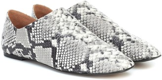 Joseph Snake-effect leather ballet flats