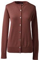 Classic Women's Plus Size Supima Cardigan Sweater-Black