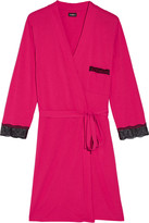 Cosabella Perugia lace-trimmed Pima cotton and modal-blend robe