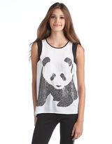Kensie Panda Sequin Tank Top