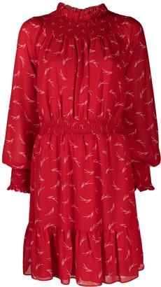 MICHAEL Michael Kors Smocked Flared Dress