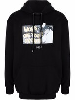 Thumbnail for your product : Throwback. Graphic-Print Cotton Hoodie