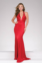 Jovani Marvelous Fit and Flare Prom Gown in Plunging V-Neckline 42309