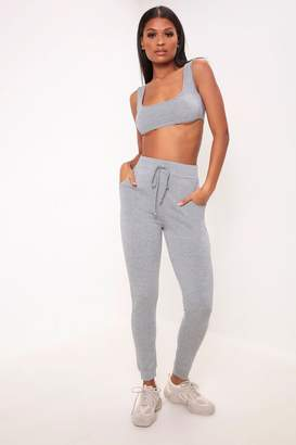 I SAW IT FIRST Grey Relaxed Fit Joggers