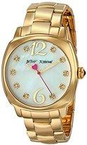Betsey Johnson Women's BJ00427-02 Analog Display Quartz Gold Watch