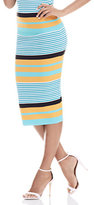 New York & Co. 7th Avenue Design Studio - Sweater Skirt - Stripe