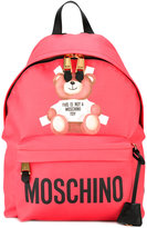 Moschino toy bear print backpack - women - Polyurethane - One Size
