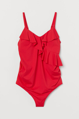 H&M MAMA Flounce-trimmed swimsuit