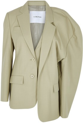 pushBUTTON Sage Wool-blend Blazer