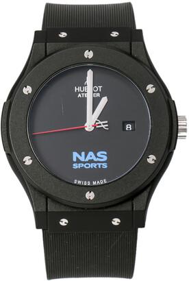 Hublot Black PVC Atelier NAS Sports Ramadan 2015 Men's Wristwatch 45 mm