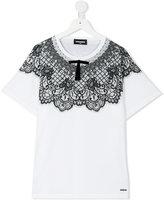 DSQUARED2 lace detail T-shirt