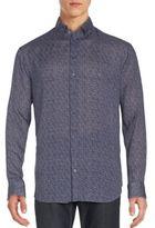 Giorgio Armani Printed Linen Shirt