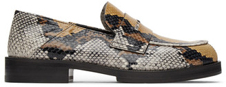 Alyx Brown Snake Logo Loafers