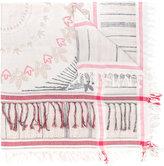 Zadig & Voltaire tassel trim scarf