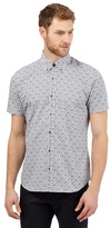 Jeff Banks White Short Sleeved Floral Shirt