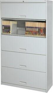 Pandora Rebrilliant 5-Drawer Vertical Filing Cabinet Rebrilliant Finish: Light Gray