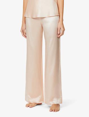 Agent Provocateur Classic mid-rise silk-satin pyjama bottoms