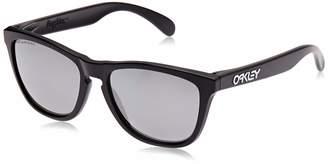 Oakley Mens Frogskins 24-297 Polarized Cat Eye Sunglasses Matte Black Frame/Black Lens One Size