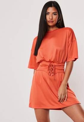 Missguided Oversized Corset T Shirt Dress