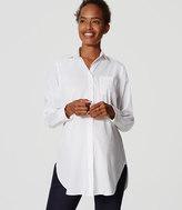 LOFT Maternity Tunic Softened Shirt