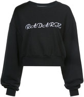 Rodarte branded billowing-sleeve sweatshirt
