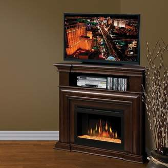 """Dimplex Montgomery TV Stand for TVs up to 49"""" with Optional Fireplace Firebox: Multi-Fire XD Acrylic Ice"""
