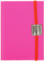 Undercover Recycled Leather Notebook Plain - Fluoro Pink - A6
