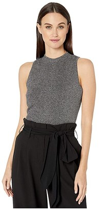 Milly Metallic Shell (Heather Grey/Charcoal) Women's Clothing