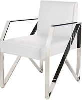 One Kings Lane Jacqueline Armchair, White