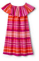 Lands' End Girls Summer Woven Ruffle Dress-Sweet Persimmon