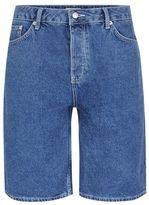 Topman Blue Oversized Skater Denim Shorts
