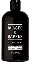 Dual Purpose Power Body Wash + Shampoo For Men - 16 OZ - All-In-One Soap - Natural & Certified Organic Ingredients - RUGGED & DAPPER