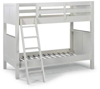 Off-White Home Styles Twin Over Twin Naples Bunk Bed