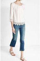 Velvet Blouse with Lace